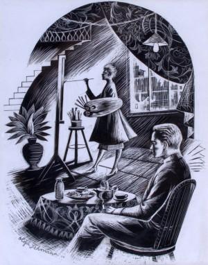 Olga and Carl in the Studio