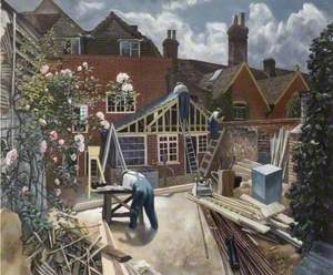 Builders at Work, Brick House, Great Bardfield