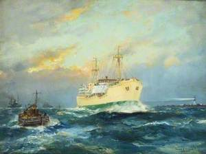 'Frederick T. Everard' Passing Spurn Head, River Humber