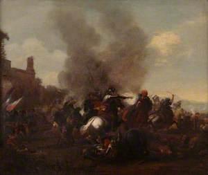 Horsemen in Combat, Man with a Pistol