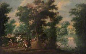Landscape with Cavalry Skirmish in a Wood