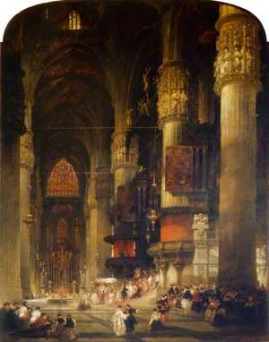 Interior of the Duomo, Milan