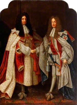 King Charles II (1630–1685), and King James II (1633–1701)