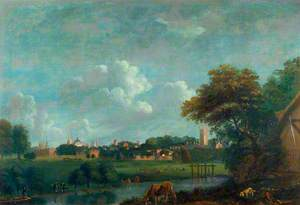 View of Oxford from the Cherwell
