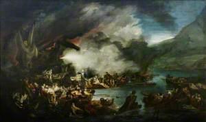 The Scene before Gibraltar, the Morning of 14 September 1782