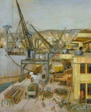 War Equipment on Algiers Quayside