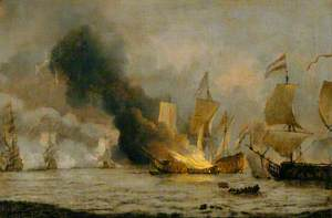 The Burning of the 'Royal James'