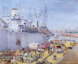 Liberty Ship Loading Scrap at Alexandria
