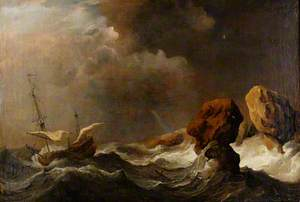 Ship in Distress off Rock