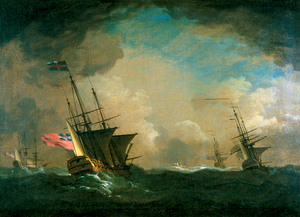 English Men o' War in a Storm