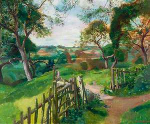 Path and Gate in a Landscape
