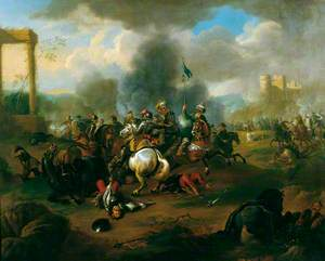 Battle Scene from the Wars of the Ottoman Empire in Europe