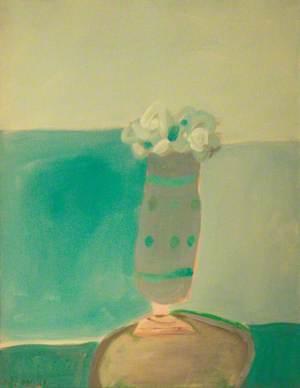 Florero en azul