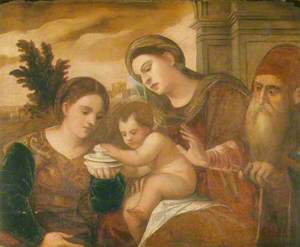 Madonna and Child with Saint Mary Magdalen and Saint Joseph
