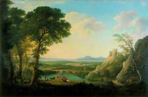 Capriccio Landscape with Harlech Castle