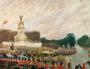 Coronation Procession Returning to Buckingham Palace