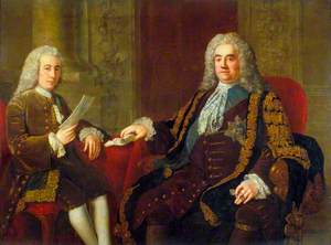 Sir Robert Walpole, Earl of Orford (1676–1745), Prime Minister,and Henry Bilson Legge (1708–1764), Politician