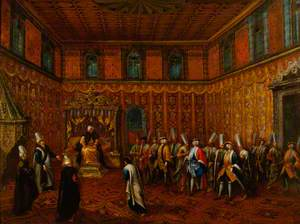 An Audience of a European Ambassador with the Sultan