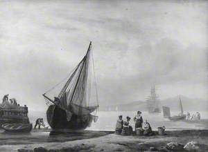 Coast Scene with Fishing Boats