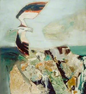 Gull in Landscape