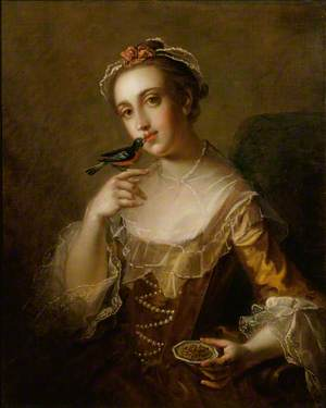 Young Woman with a Bird
