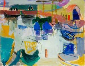 Sea Houses, Blue Fishing Boats