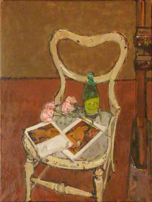 Modigliani Reproductions with Paper Flowers