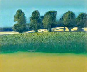 Summer Landscape with Trees II