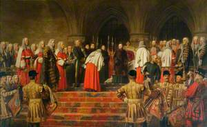 Queen Victoria Opening of the Royal Courts of Justice, 1882