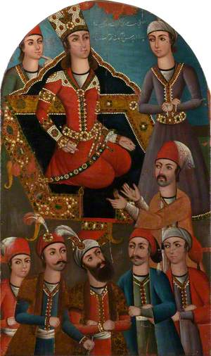 Yusuf on the Throne with Servants and Officials