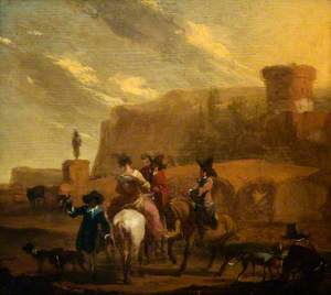 Landscape with a Hawking Party
