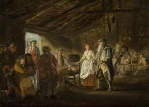 Scene from Allan Ramsay's 'Gentle Shepherd'