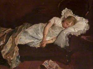 A Girl Asleep on a Sofa