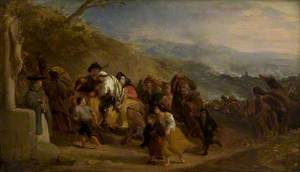 Spanish Peasants Retreating from the French Army