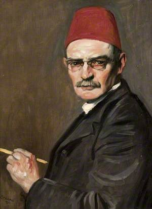 The Red Fez: Self Portrait