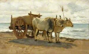 Bullocks Drawing a Cart