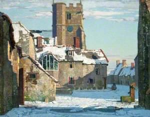 Winter, Corfe Castle Village