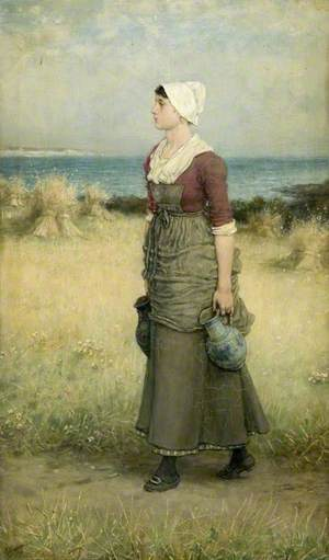 Girl with Pitchers, Summer Scene
