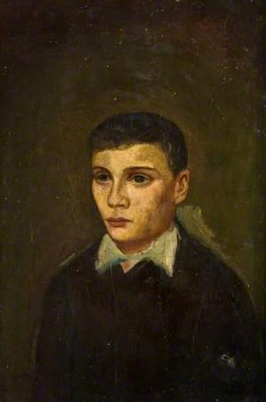 Half-Length Figure, a Boy with a White Collar