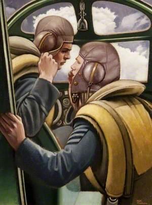 Pilot and Navigator Confer