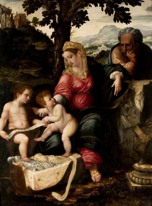 The Holy Family and Saint John the Baptist under an Oak Tree
