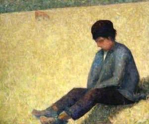 Boy Sitting in a Meadow