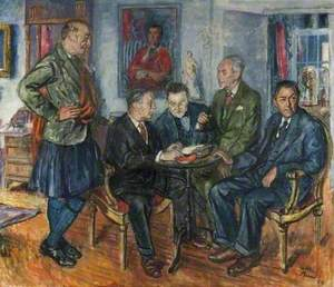 A Group of Writers (Shane Leslie, Compton Mackenzie, Henry Green, James Laver and Vyvyan Holland)
