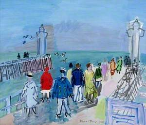 The Jetties of Trouville-Deauville