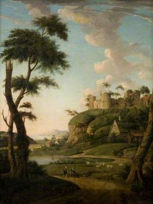 Landscape with Rustics and Sheep near a Castle