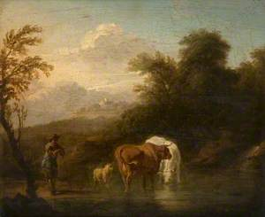 Landscape with Cattle and a Cowherd