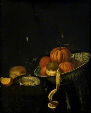Still Life: Fruit, Oyster and Glasses