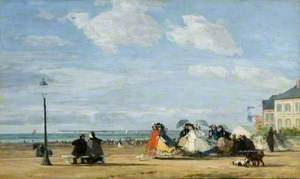 The Beach at Trouville, the Empress Eugénie