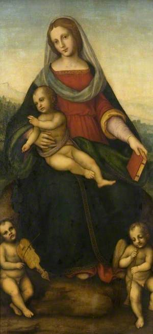 Virgin and Child with Two Musician Angels