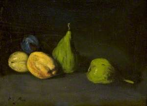 Still Life with Fruit, Figs and Apricots